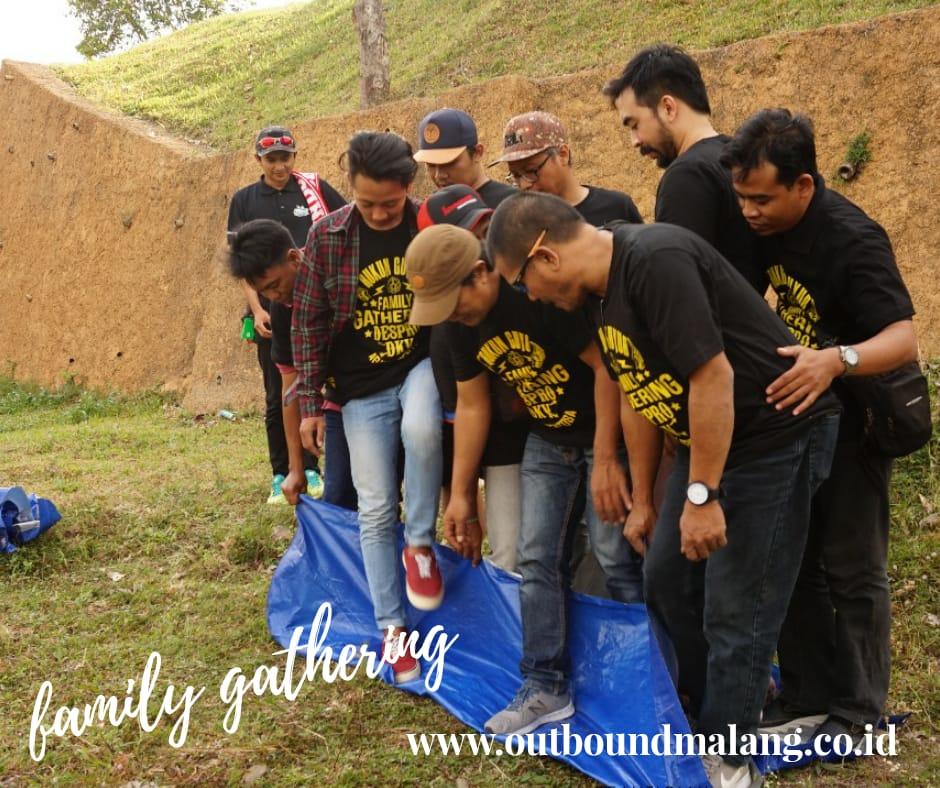 Family gathering keluarga besar desain produk & DKV ITS, outbound malang